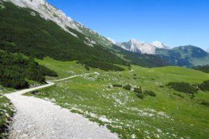 Auf dem Weg zum Karwendelhaus