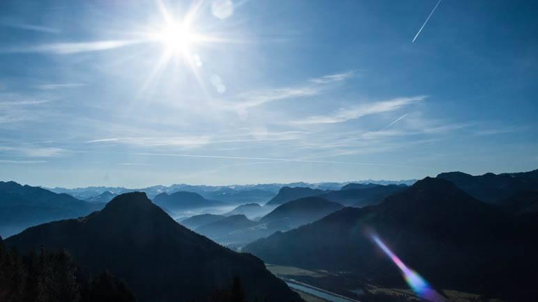 Der Alpenblick vom Heuberg - Herbstsomme Ende Dezember