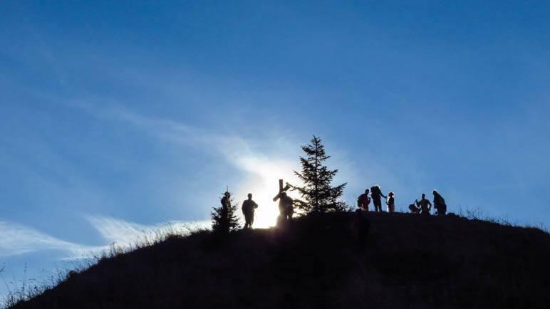 Schattenspiele am Heuberg-Gipfel