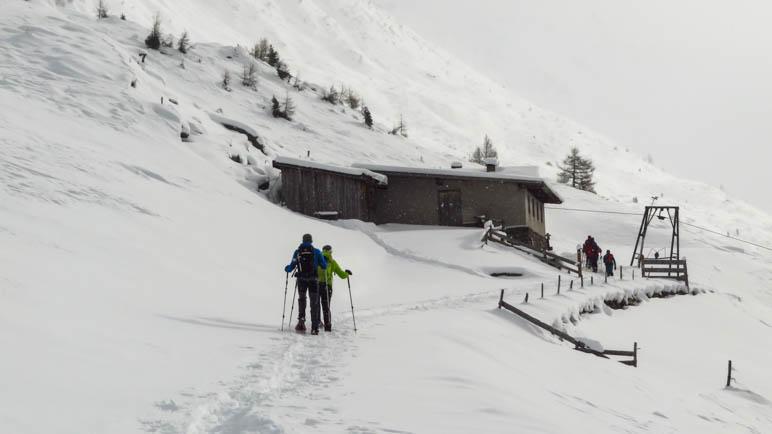 Kurz vor der Moseralm, dem mit 1865 Metern höchten Punkt der Wanderung