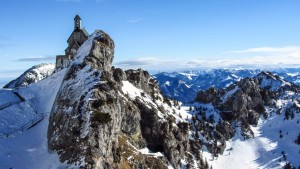 Die Wendelstein-Kapelle im Winter