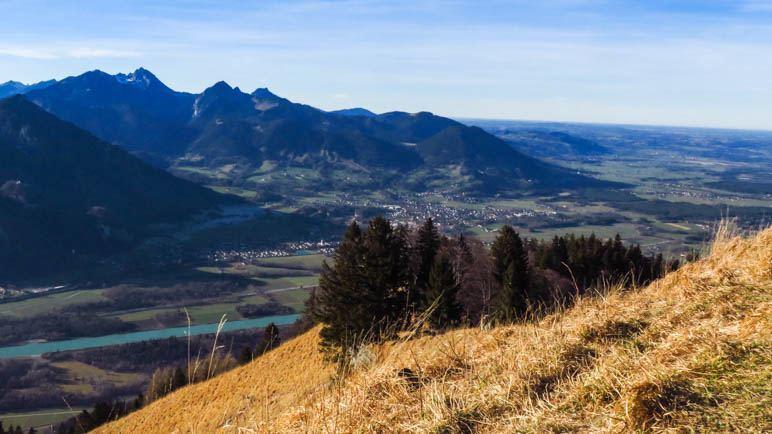 Der Blick auf den Wendelstein und die nördlichen Ausläufer des inntals