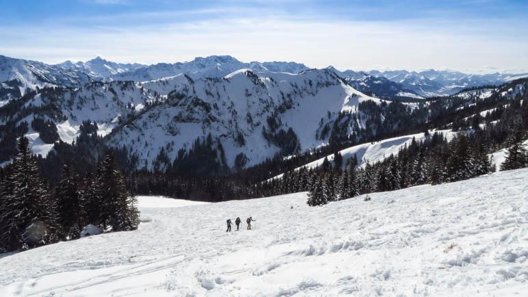 Bergblick im Aufstieg