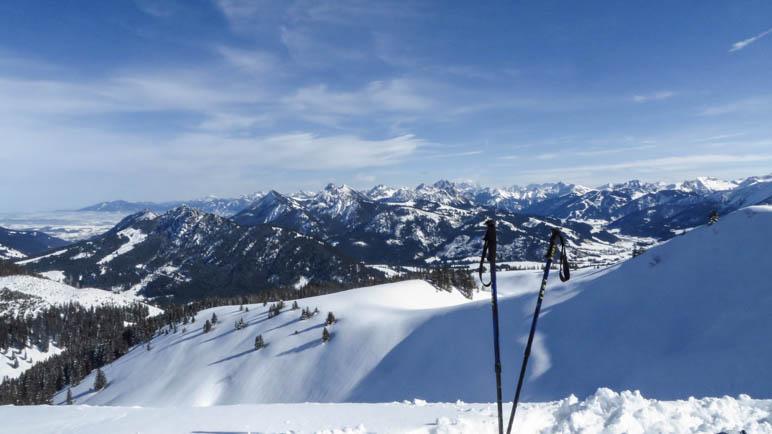 Panoramablick ins Tannheimer Tal