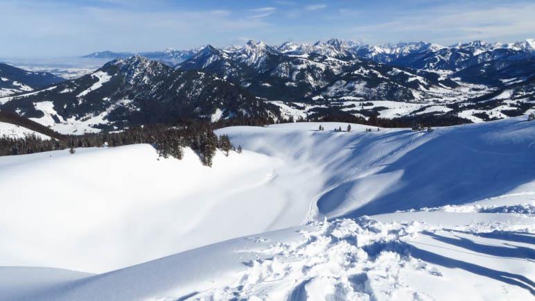 Panoramablick am Wertacher Hörnle