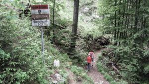 Auf dem Schmugglerweg zwischen Schleching in Bayern und Kössen in Tirol. Chiemgauer Alpen