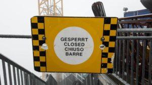 Der Weg zum Zugspitz-Gipfel ist noch gesperrt