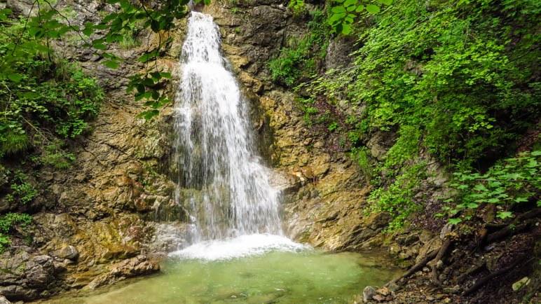 Der dritte Wasserfall in der Klamm ist der höchste