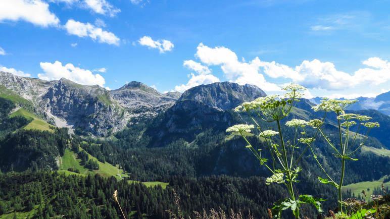 Ein Blick über die Berchtesgadener Alpen