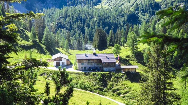 Das Schneibsteinhaus, nur eine kurze Wanderung von der Gipfelstation entfernt