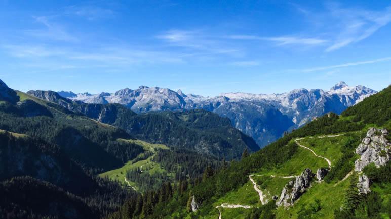 Das Steinerne Meer, von der Bergstation der Jennerbahn aus gesehen