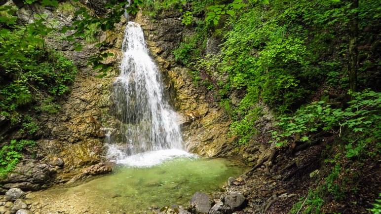 Einer der Wasserfälle in der Schleifmühlenklamm