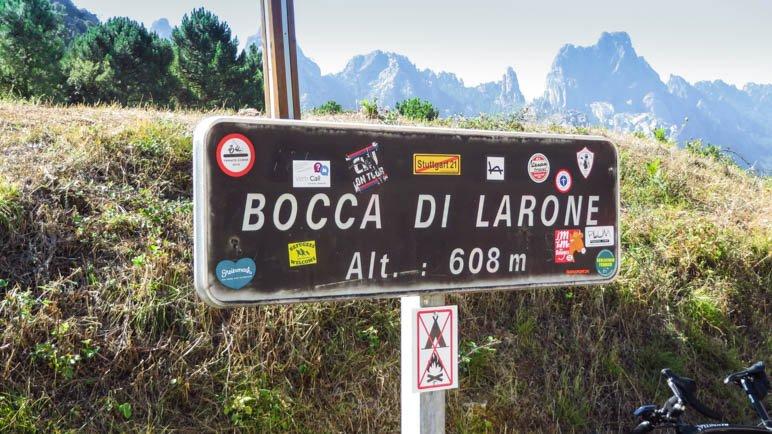 Die Bocca di Larone auf 608 Metern Höhe
