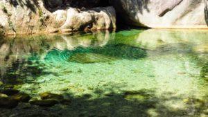 Smaragdgrünes Wasser: Die Gumpen der Cascades de Purcaraccia