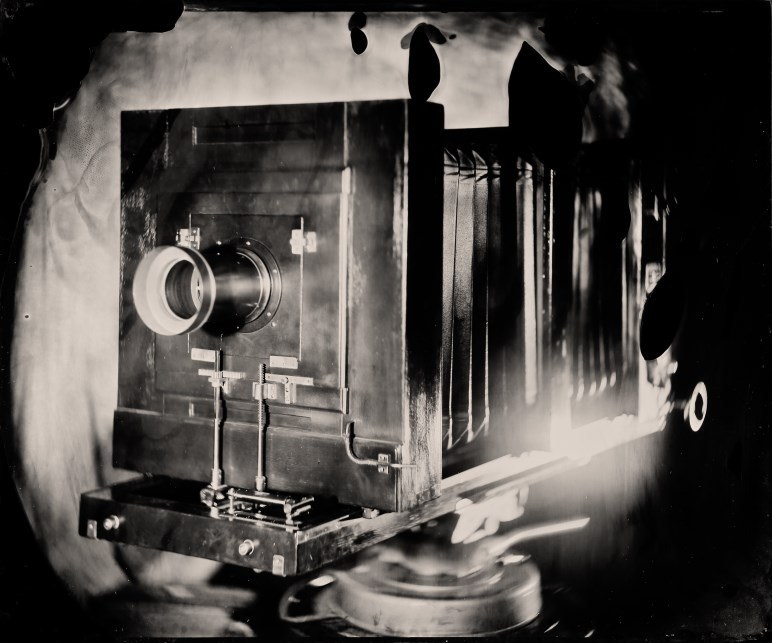 Eine Balgenkamera - Foto: Kurt Moser