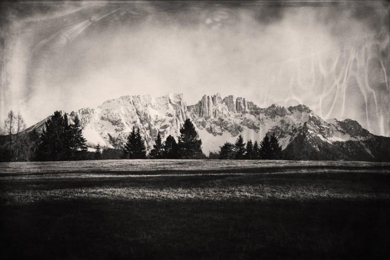 Die Dolomiten - mit Ambrotypie auf Glasplatte fotografiert - Foto: Kurt Moser