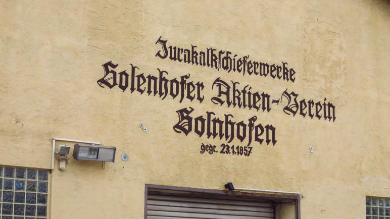 Die Jurakalkschieferwerke Solnhofener Aktien-Verein von 1857. Mehr als 150 Jahre Tradition!