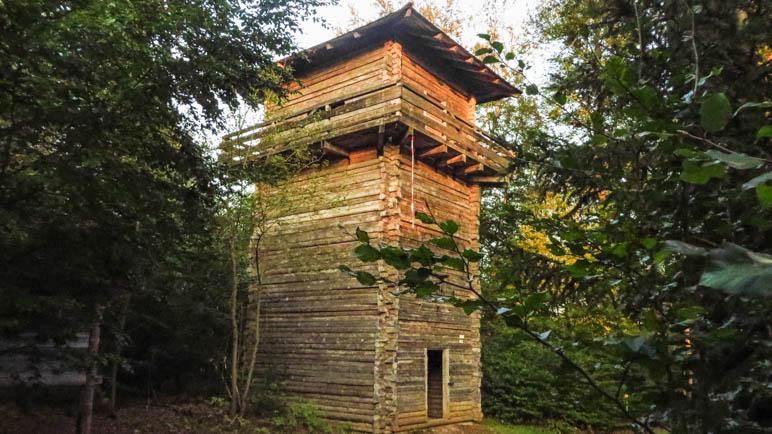Auf die Nachbildung des römischen Limes-Wachturms musst ich natürlich auch gehen
