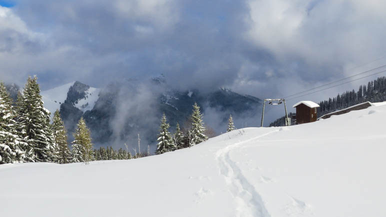 Kurz vor dem Stümpfling-Gipfel