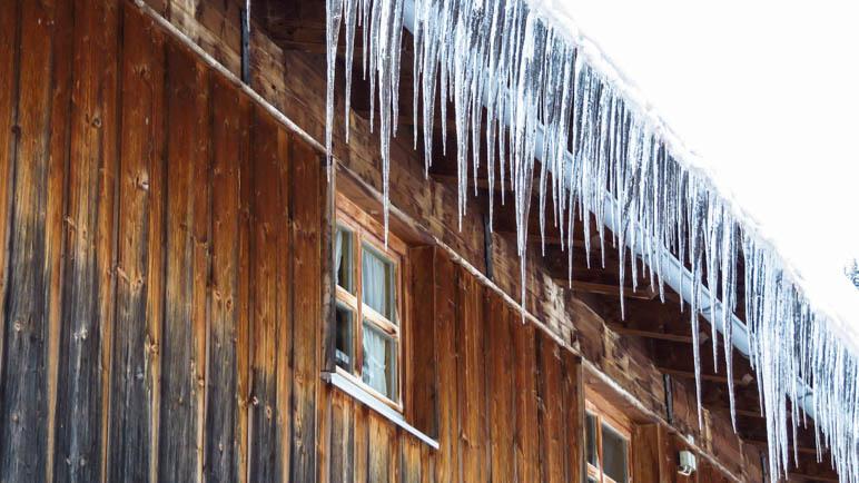Eiszapfen an der unteren FIrstalm