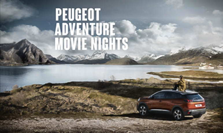 die peugeot adventure movie nights auf den. Black Bedroom Furniture Sets. Home Design Ideas