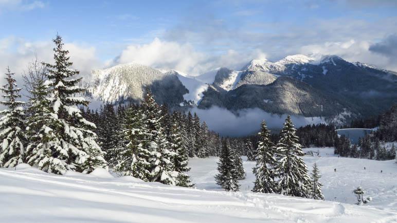 Ein Blick in Richtung Taubenstein und Rotwand