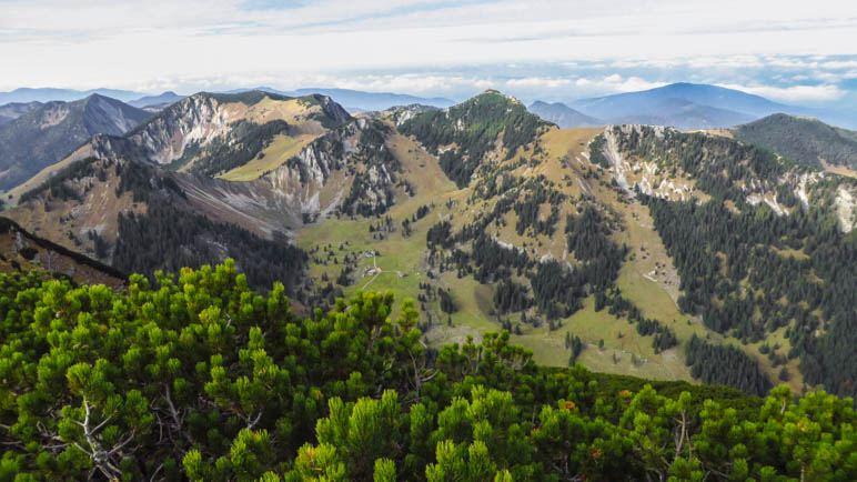 Die Schlierseer Berge, hier etwa in Blickrichtung zum Schliersee