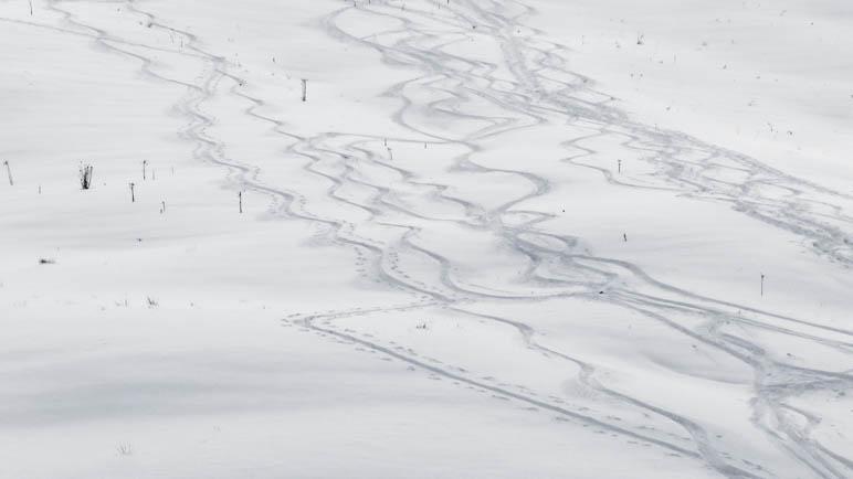 Die Skiabfahrt zur unteren Firstalm