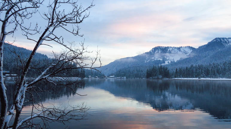 Abendrot am Spitzingsee