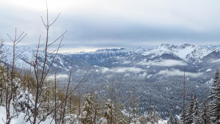 Bergblick im Aufstieg Richtung Rotwandhaus