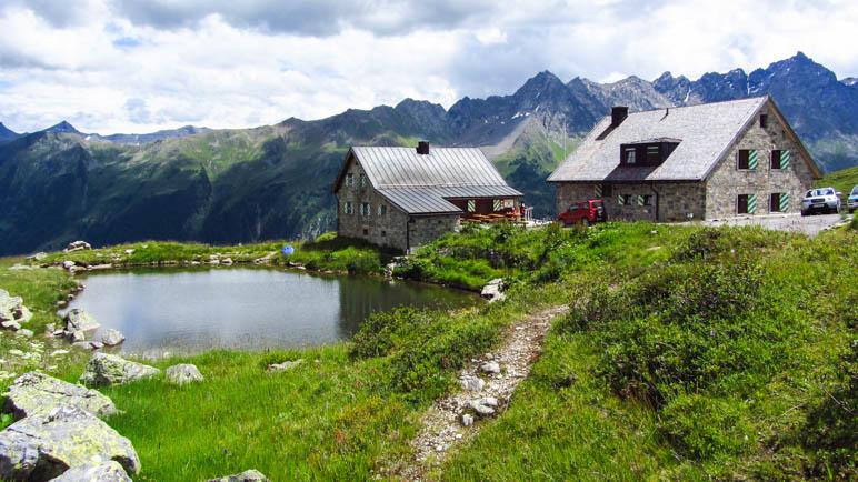 Eine schöne Hütte, toll für Kinder: Die Friedrichshafener Hütte oberhalb von Galtür