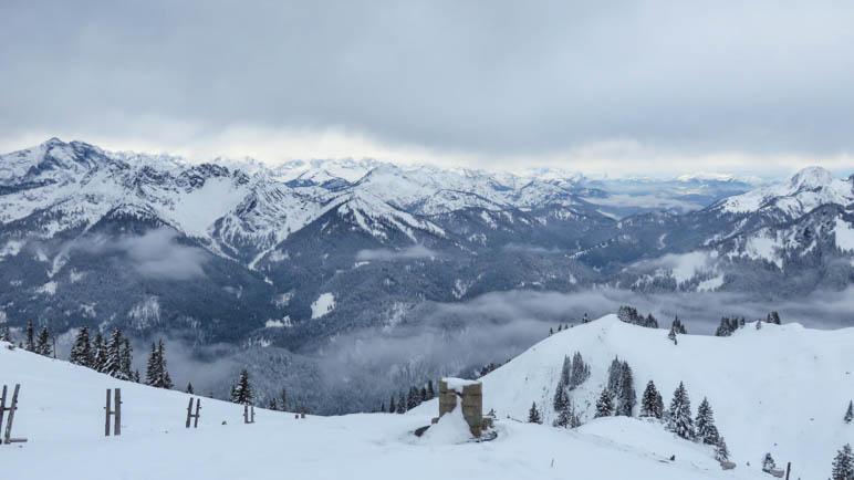 Der Bergblick vom Rotwandhaus aus