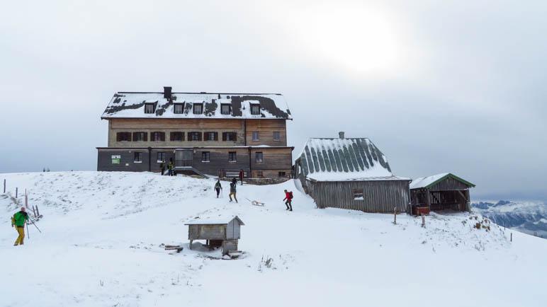 Das Rotwandhaus, Ziel unserer Winterwanderung im Herbst