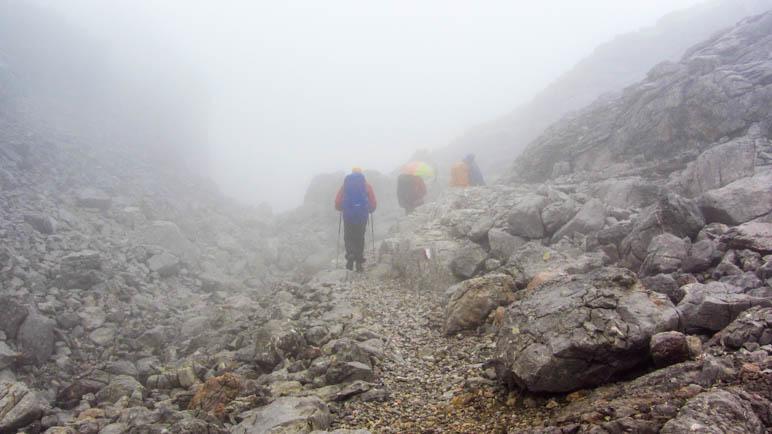 Im Nebel im Steinernen Meer