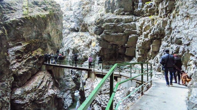 Eine weitere Brücke, kurz vor dem Klammausgang