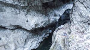 Nur Fels: Eine enge Stelle in der Breitachklamm