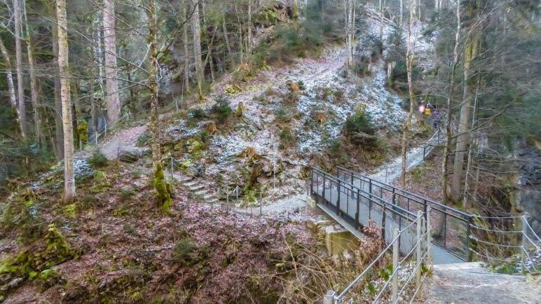 Die Brücke am Abzweig zur Walserschanz