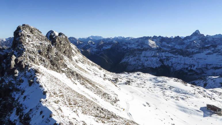 Bis zur Zugspitze reicht der Blick vom Nebelhorn