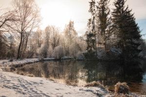 Semptweiher im Schnee