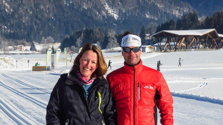 Mit dem Trainer Markus in der Loipe