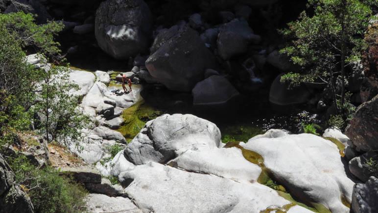 An den Gumpen im Tavignanotal