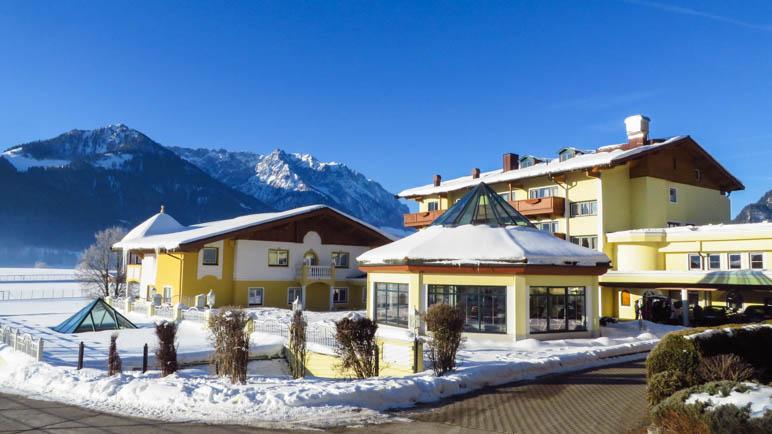 Das Hotel Seehof, hier der untere Teil, in dem wir gewohnt haben