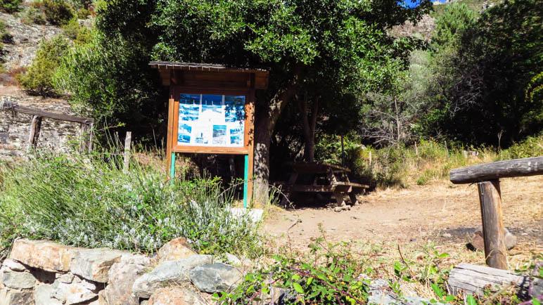 Der Picknickplatz, an dem man auch Wasser auffüllen kann
