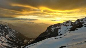 Ein goldener Streifen über Oberstdorf