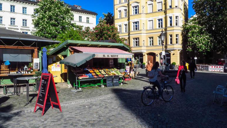 Der Markt auf dem Wiener Platz, eine meiner Lieblingsgegenden in München