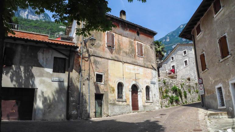 Der Beginn der Wanderung in Brentino