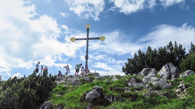 Das Gipfelkreuz auf dem vorderen Rauschberg