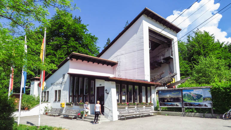 Die Talstation der Rauschbergbahn, unser Startpunkt der Wanderung