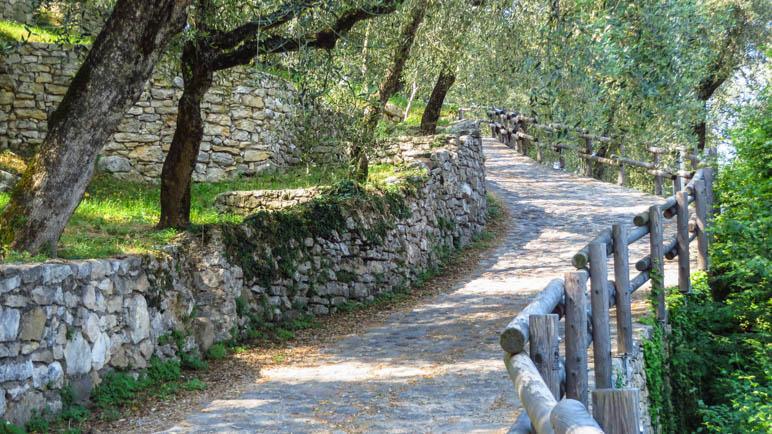 Der Weg nach Campo führt an vielen Trockenmauern entlang