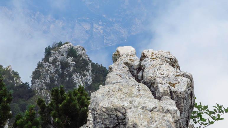 Auf den letzten Felsblock mit dem besten Tiefblick bin ich dann nicht mehr gestiegen